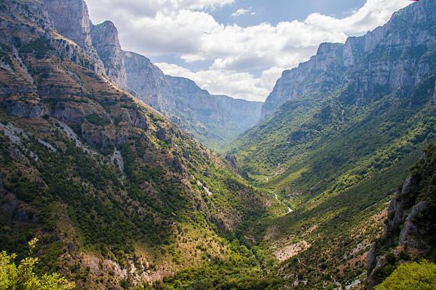 Vikos Gorge Vikos Canyon, Northeastern Epirus, Greece... ravine stock pictures, royalty-free photos & images