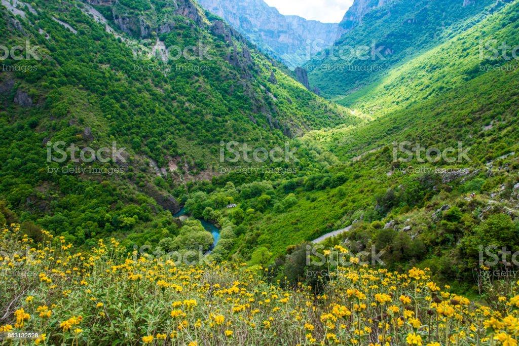 Vikos Gorge stock photo