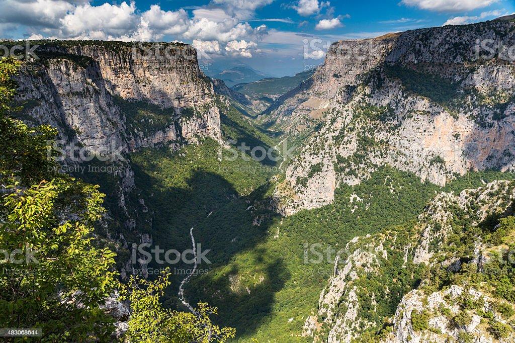 Vikos Gorge, Zagoria, Greece stock photo