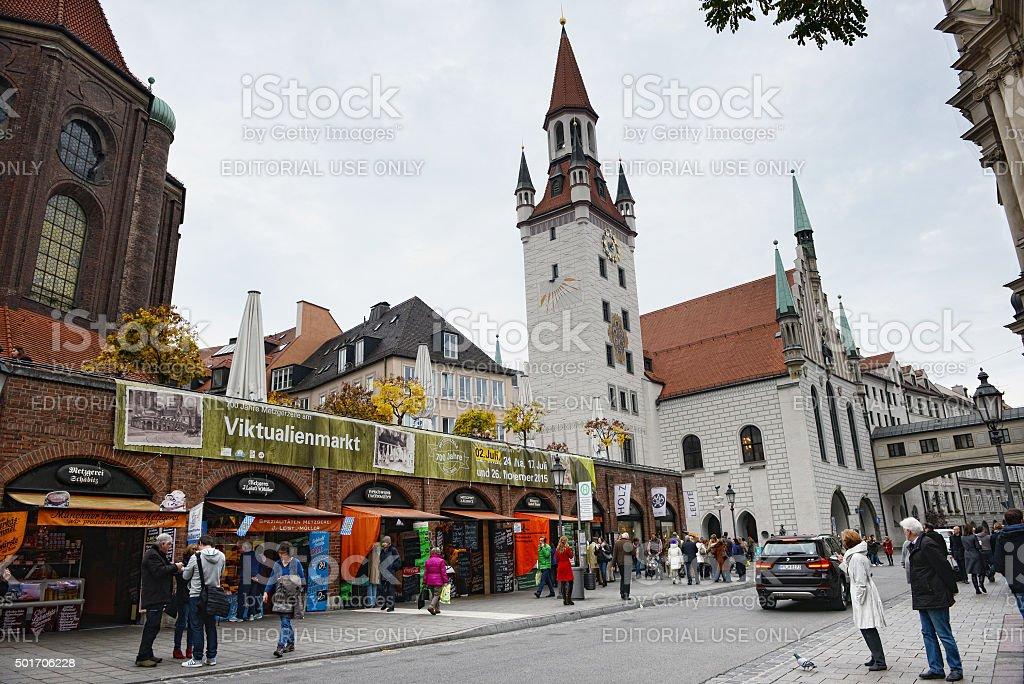 Viktualienmarkt at Munich stock photo
