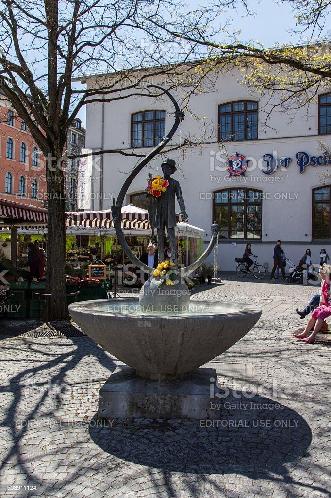 Viktualienmarkt in Munich, Bavaria, Germany, 2015 stock photo