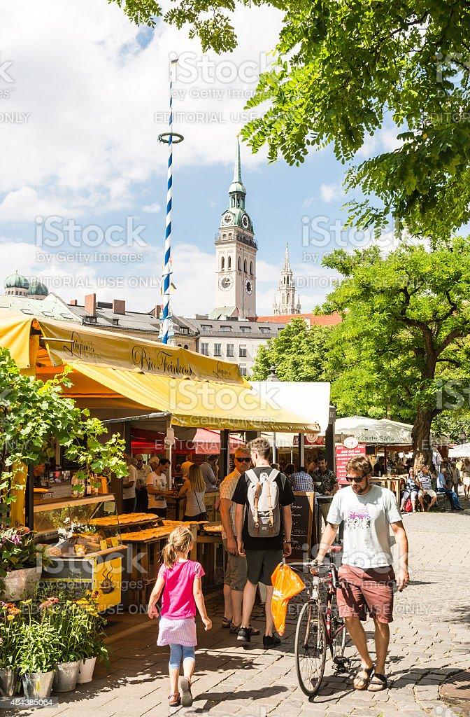 Viktualienmarkt in Munich stock photo