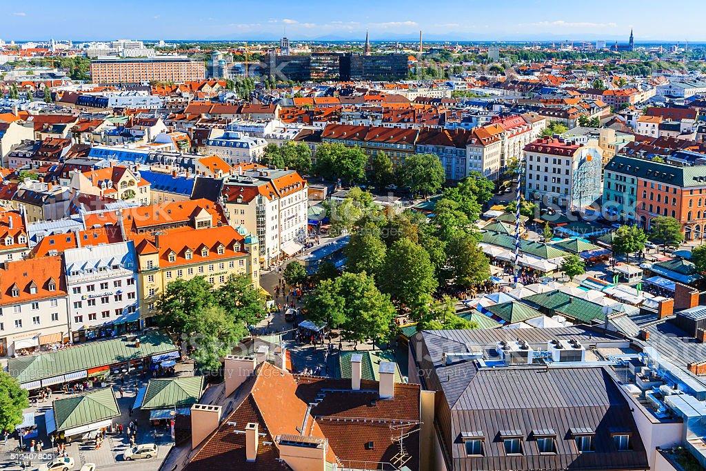 Viktualienmarkt, Munich, Bavaria, Germany stock photo