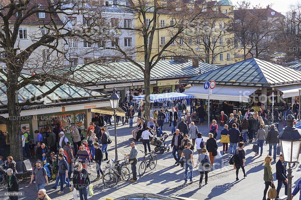 Viktualienmarkt, Munich, Germany stock photo