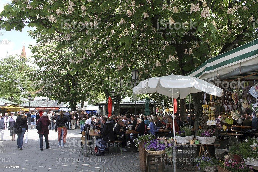 Viktualienmarkt Munich stock photo