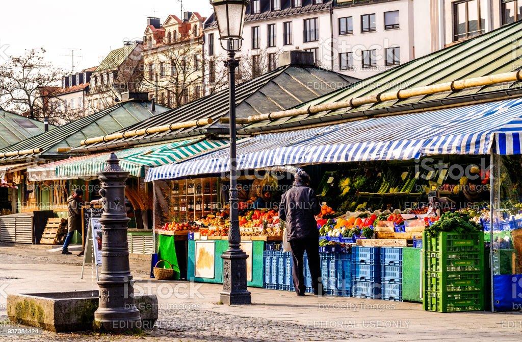 viktualienmarkt - munich stock photo