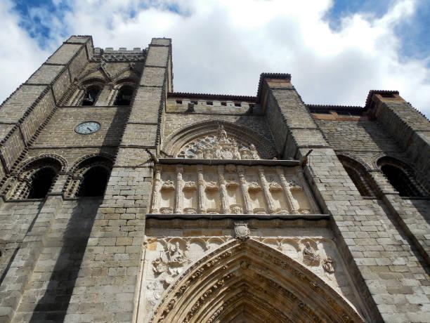 Ávila Cathedral, Ávila Spain stock photo