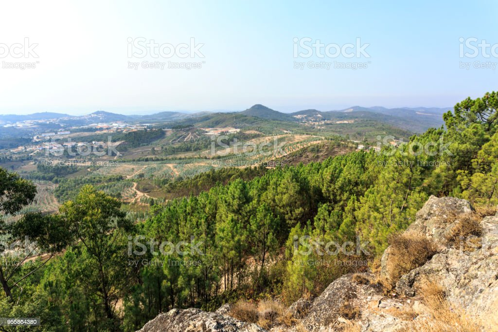 Vila de Rei View from the Geodetic Center of Portugal stock photo