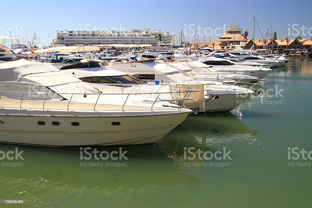 Vila Moura marina stock photo
