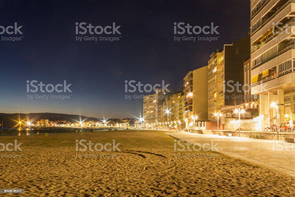 Vilagarcia de Arousa boardwalk royalty-free stock photo