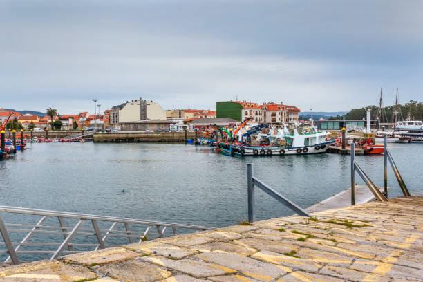 Vilanova de Arousa fishing harbor stock photo