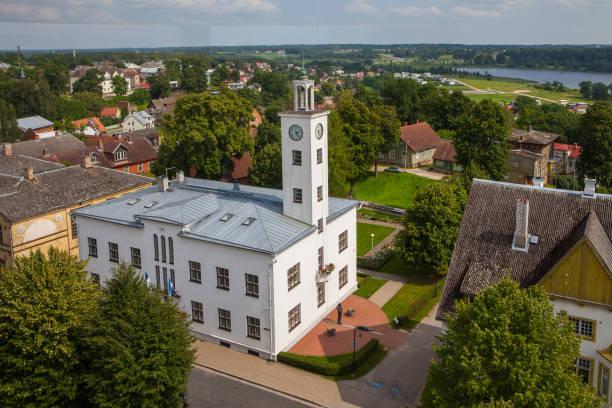 Viljandi town hall buiding. Estonia. stock photo
