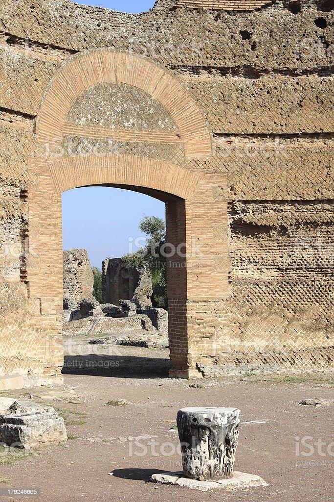 Villa Adriana near Rome royalty-free stock photo