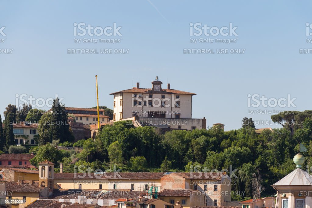Villa Agape Arrighetti in a sunny day. Florence, Tuscany, Italy. royalty-free stock photo