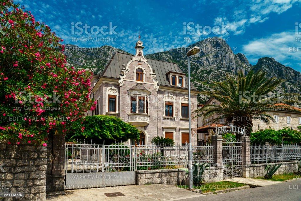 Villa Ancjelija in Dobrota stock photo