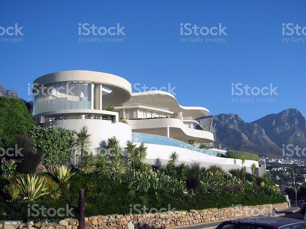 villa at camps bay stock photo