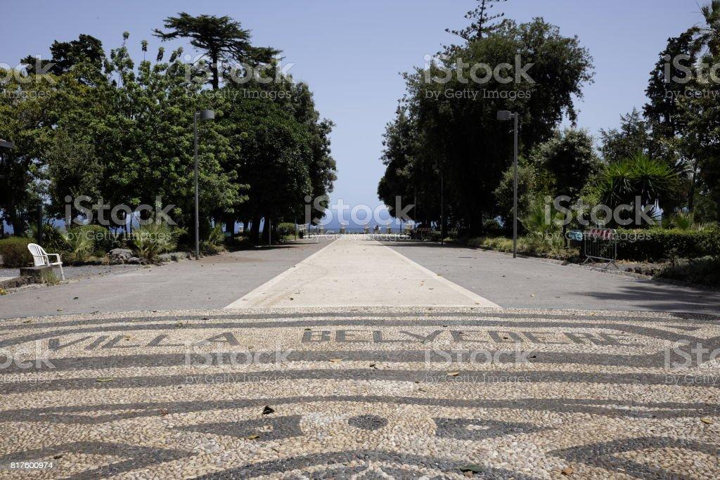 villa belvedere acireale - foto stock
