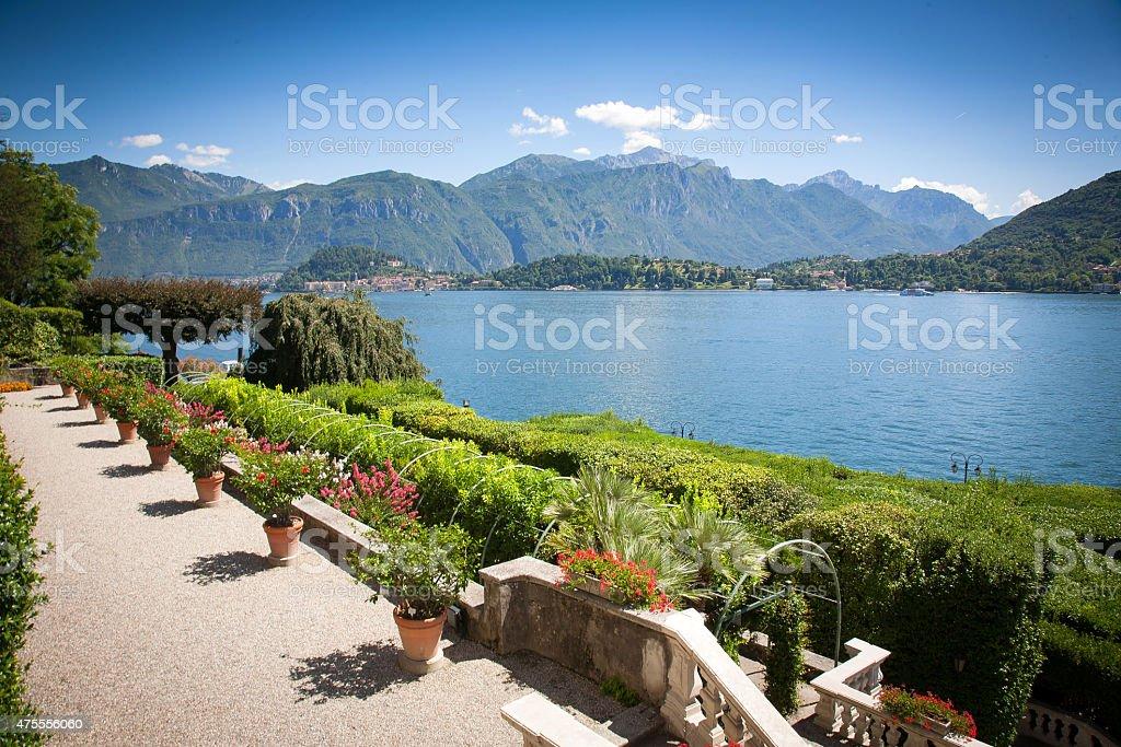 Villa Carlotta, Lake Como, Italy stock photo