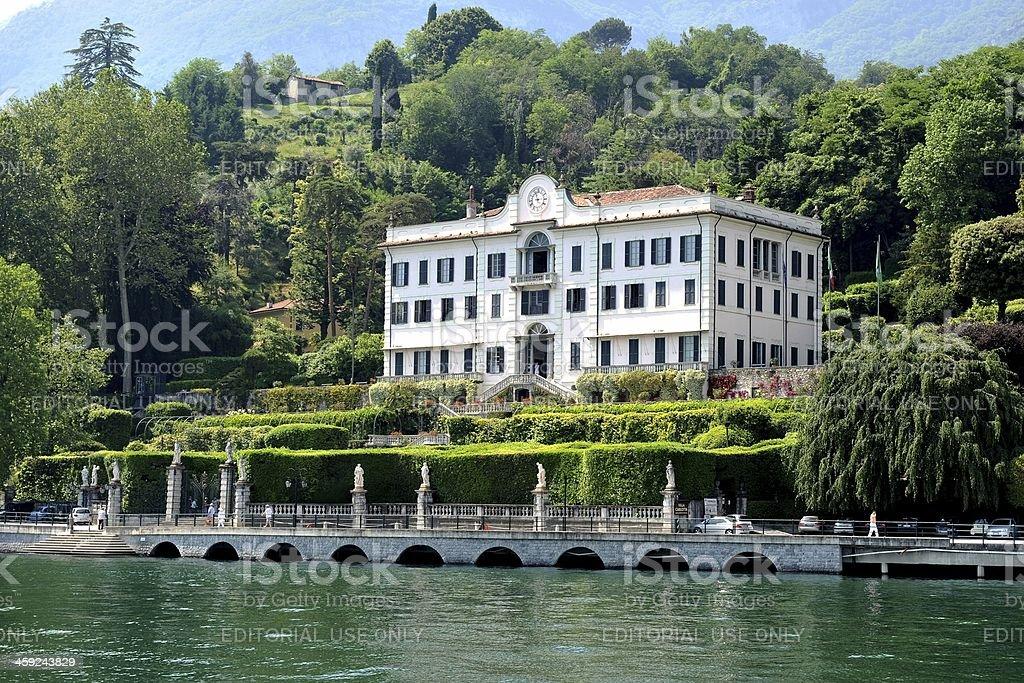 Villa Carlotta near Tremezzo stock photo