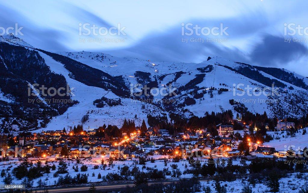 Villa Catedral Ski Resort stock photo