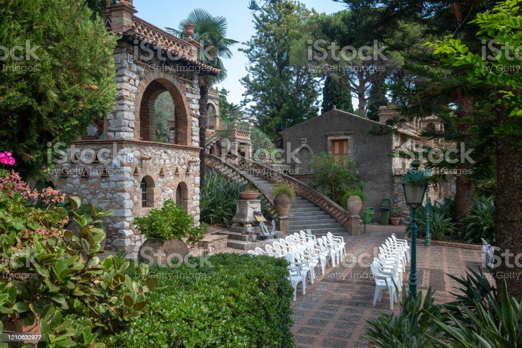 Villa Comunale Di Taormina In Messina Province Sicily ...