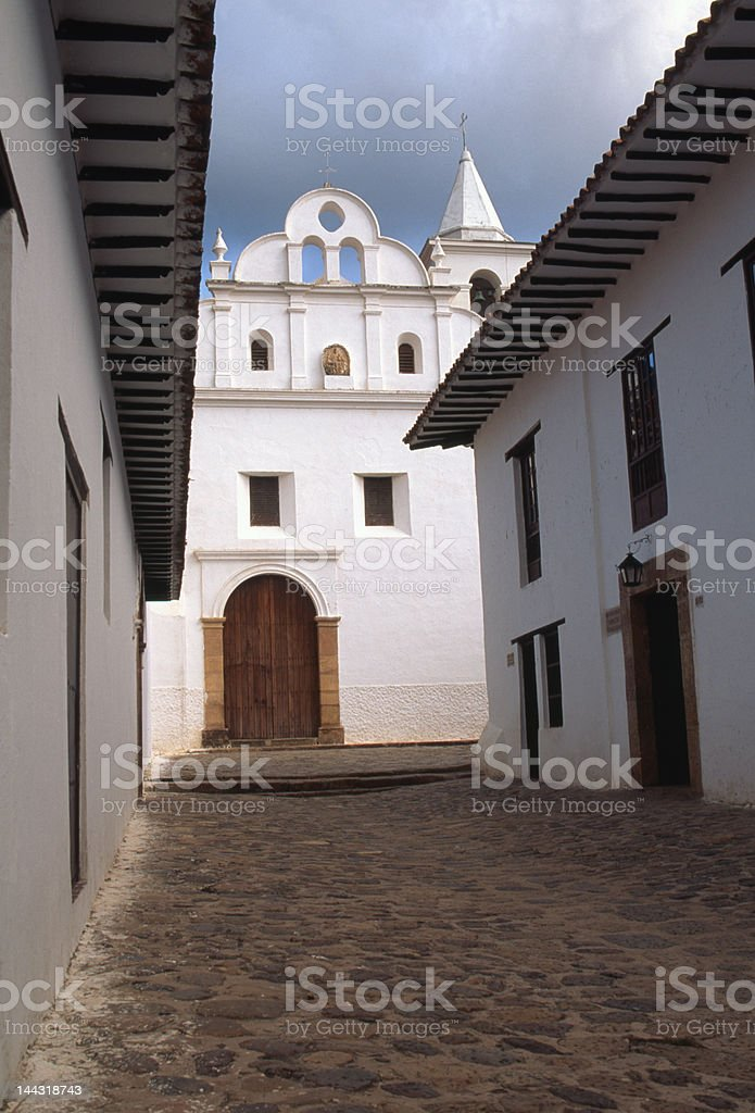 Villa de Leyva Colombia stock photo