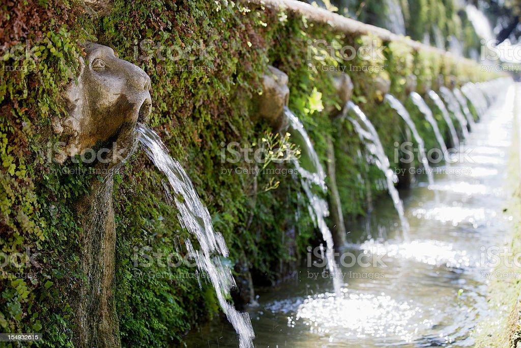 Villa D'Este Gardens royalty-free stock photo