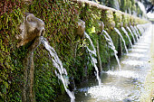 Fountain In Villa D'Este Gardens. Tivoli, Rome. Italy\u2028http://www.massimomerlini.it/is/rome.jpg\u2028http://www.massimomerlini.it/is/romebynight.jpg
