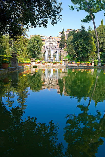 "Villa d'Este, Tivoli, Italy ""Fountains of Villa d'Este, Tivoli, Italy, near Rome, fine example of Renaissance architecture and the Italian Renaissance garden.See more images like this in:"" lazio stock pictures, royalty-free photos & images"