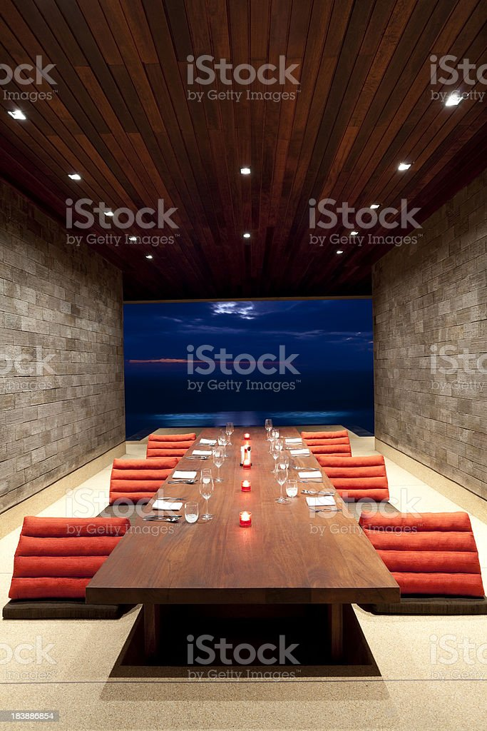 villa dining room luxury royalty-free stock photo