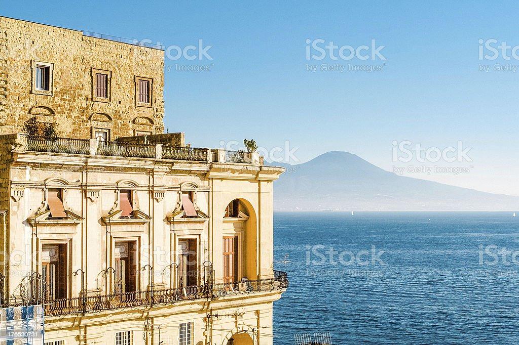 Villa Donn'Anna, Baia di Napoli, Italia. - foto stock