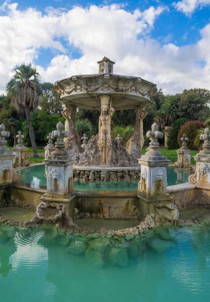 Villa Doria Pamphilj in Rome (Italy) Rome, Italy - 12 November 2017 - The monumental park of Villa Doria Pamphili, a seventeenth-century villa with what is today the largest landscaped public garden in Rome, Italy. It is located on the Gianicolo hill. lazio stock pictures, royalty-free photos & images