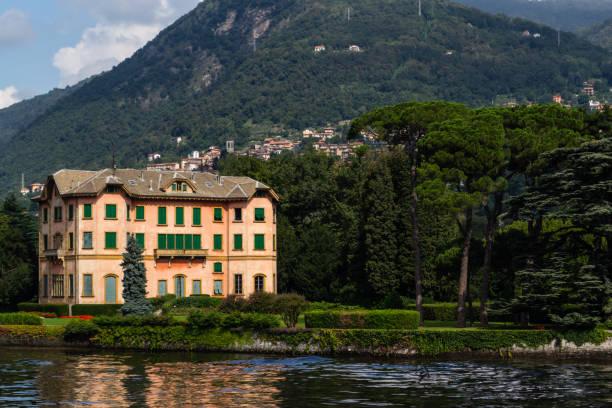 Villa Dozzio in Cernobbio, Lake Como stock photo