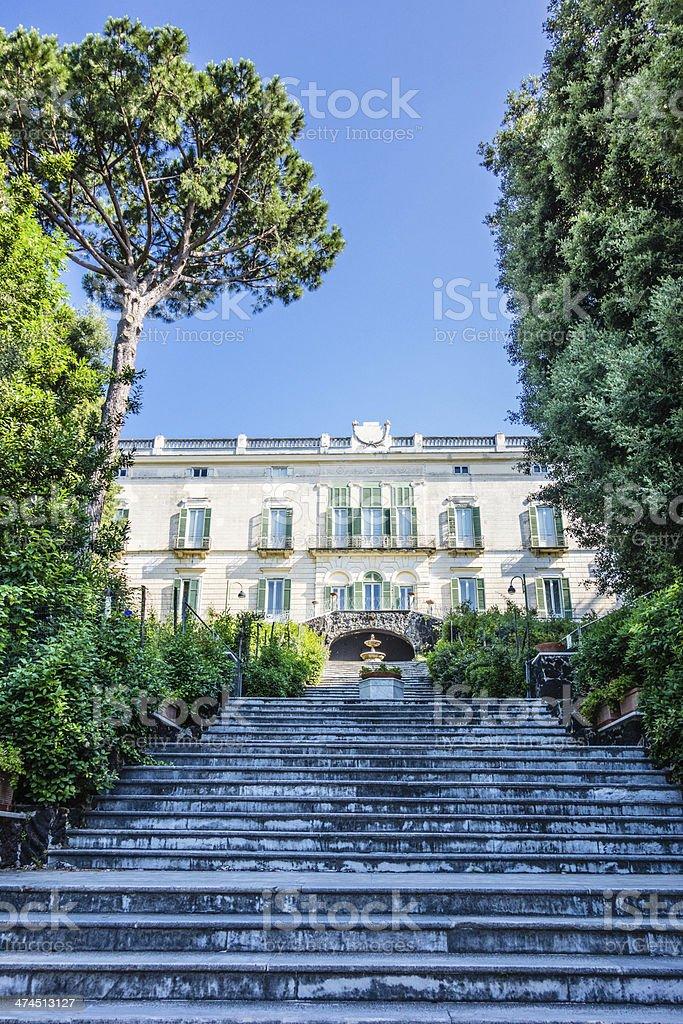 Villa Floridiana facciata, Napoli, Italia - foto stock