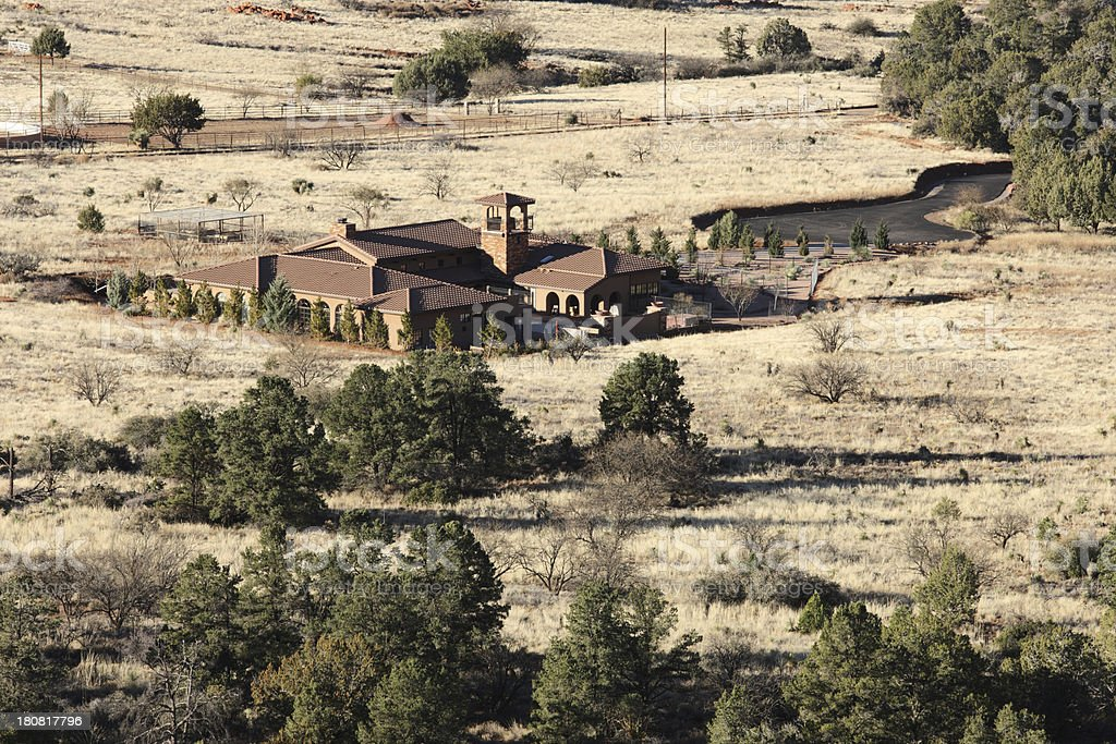 Villa Home Southwest Ranch Property stock photo