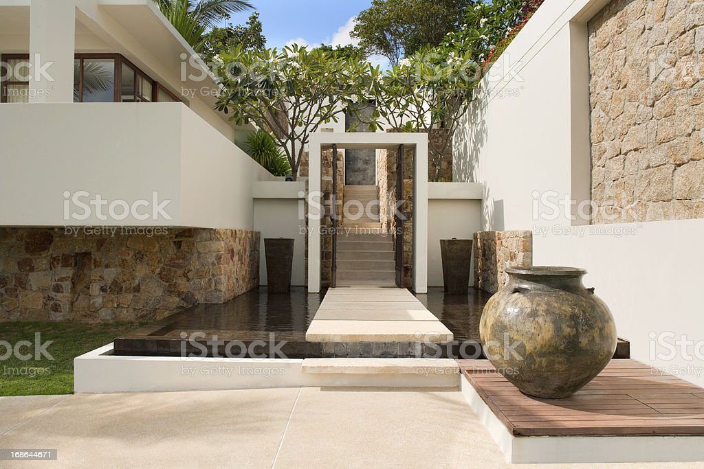 Villa In The Tropics royalty-free stock photo
