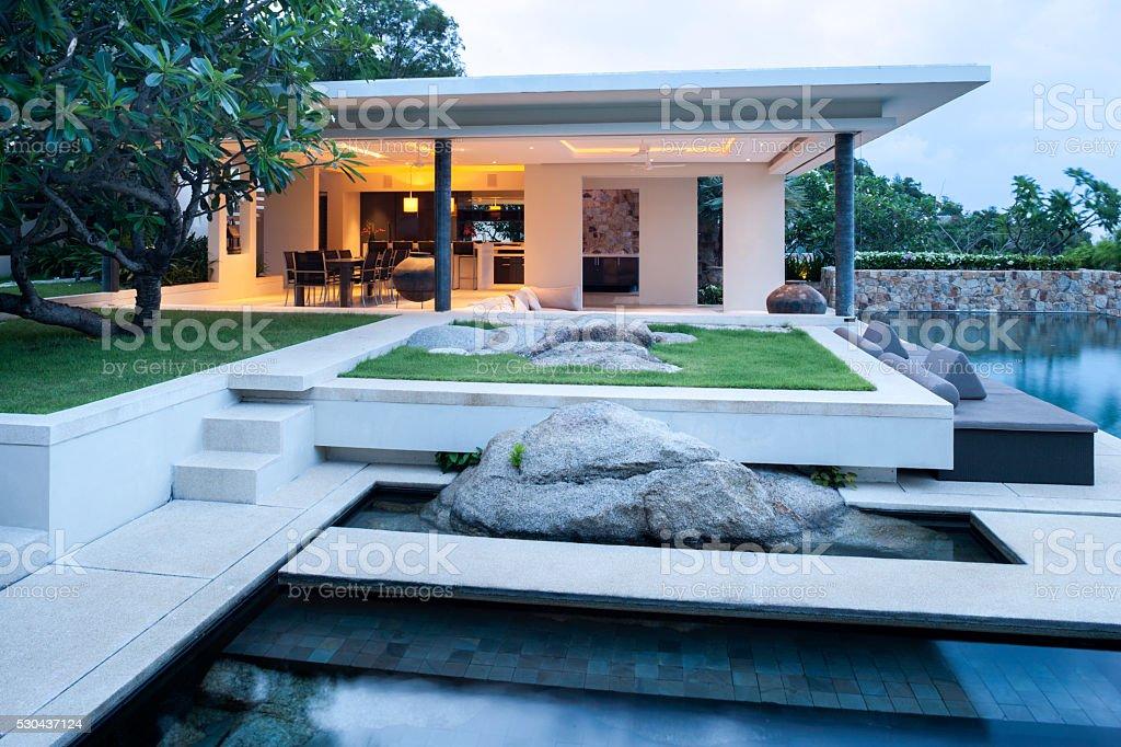 Villa In The Tropics stock photo