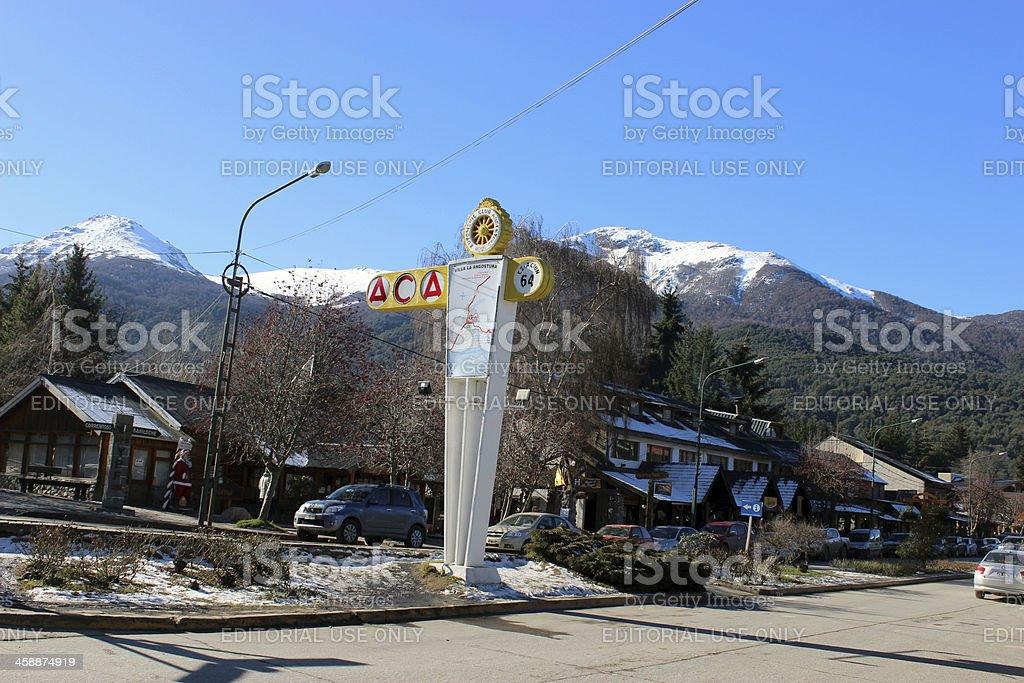 Villa La Angostura City  - Argentina stock photo