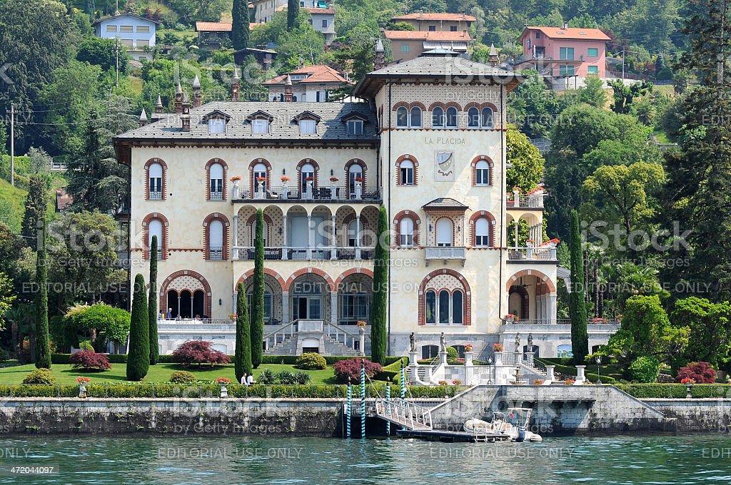 Villa La Placida on the shore of Lake Como stock photo