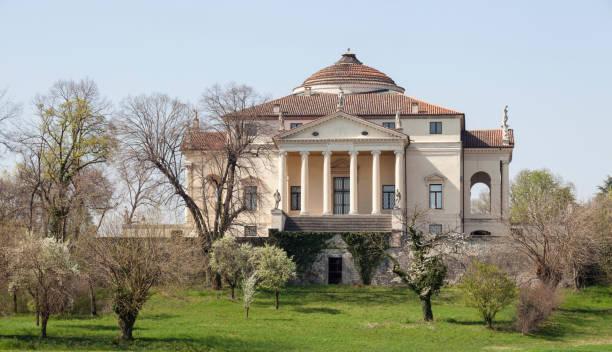 villa la rotonda von andrea palladio, vicenza veneto, italien - vicenza stock-fotos und bilder