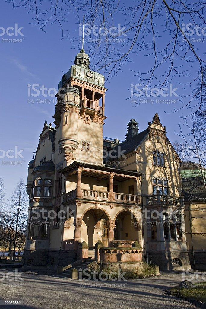 Villa Lusthusporten (Stockholm, Sweden) stock photo