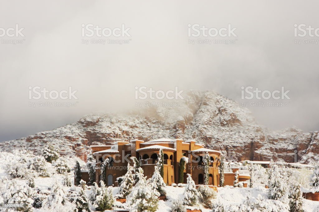 Villa Mansion Home Architecture Winter royalty-free stock photo