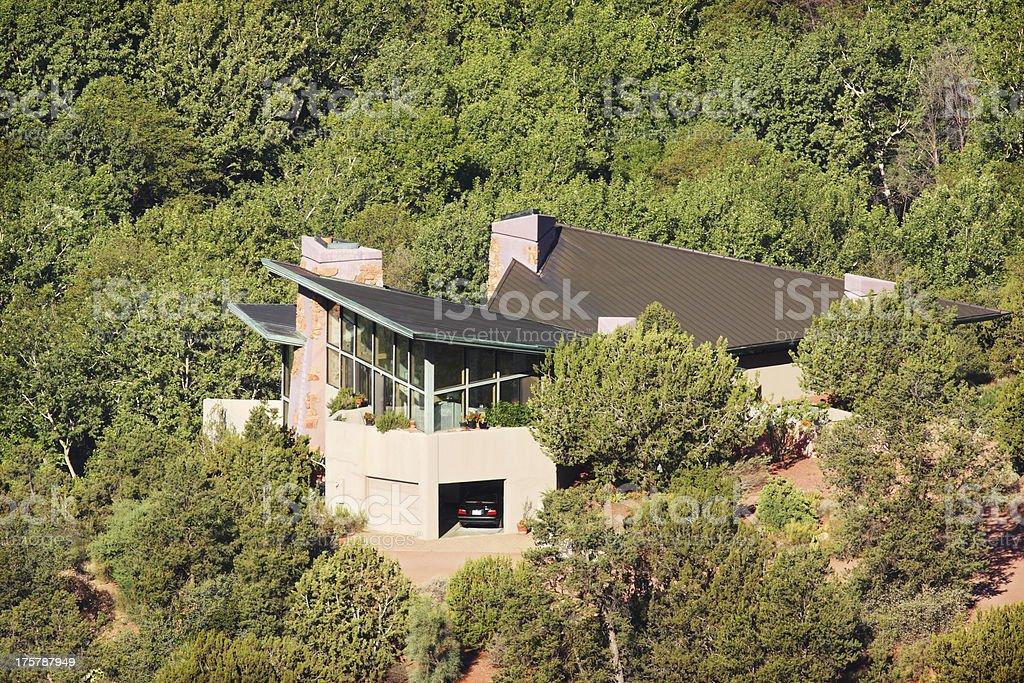 Villa Mansion Home Facade Forest Landscape stock photo