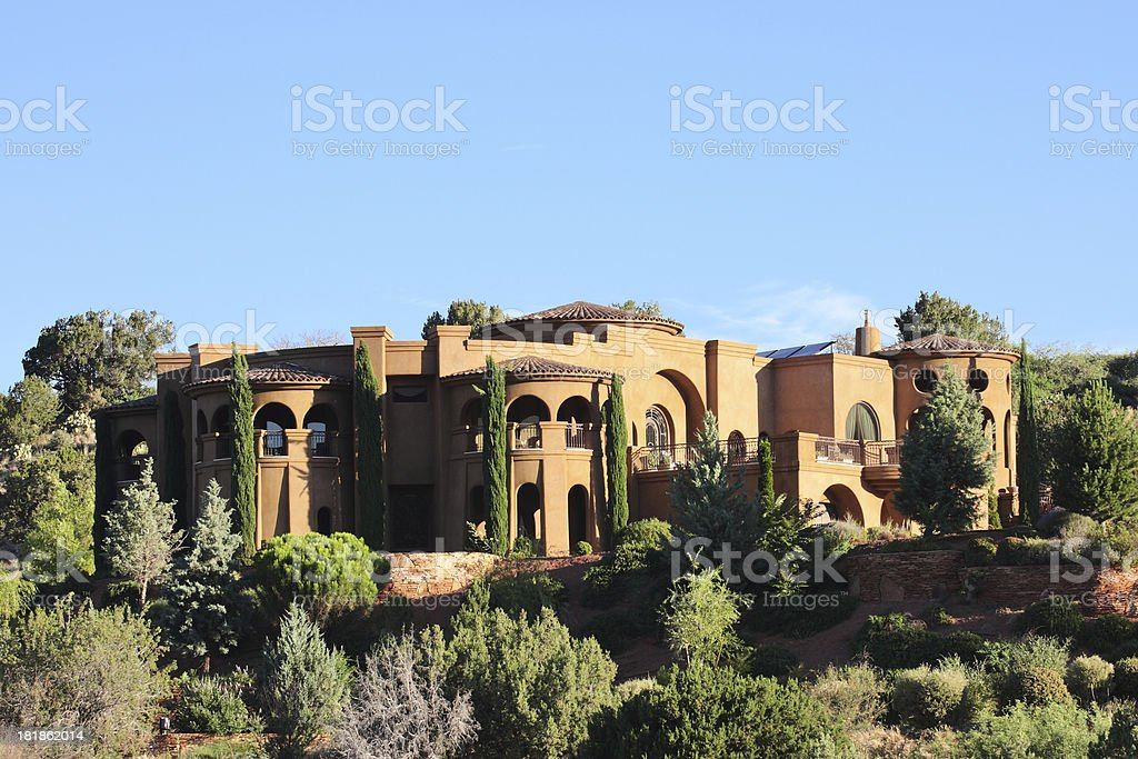 Villa Mansion Home Mediterranean Style stock photo