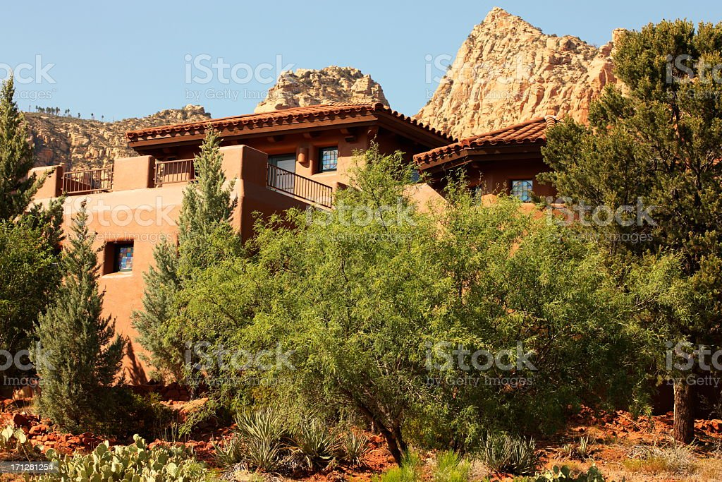 Villa Mansion Home Residence Yard stock photo