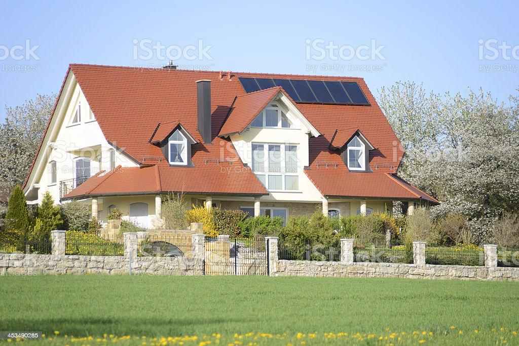 villa mansion in rural land royalty-free stock photo