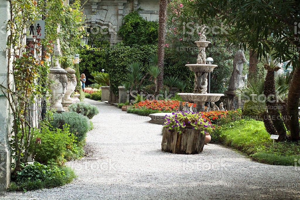 Villa Monastero Botanical Garden stock photo