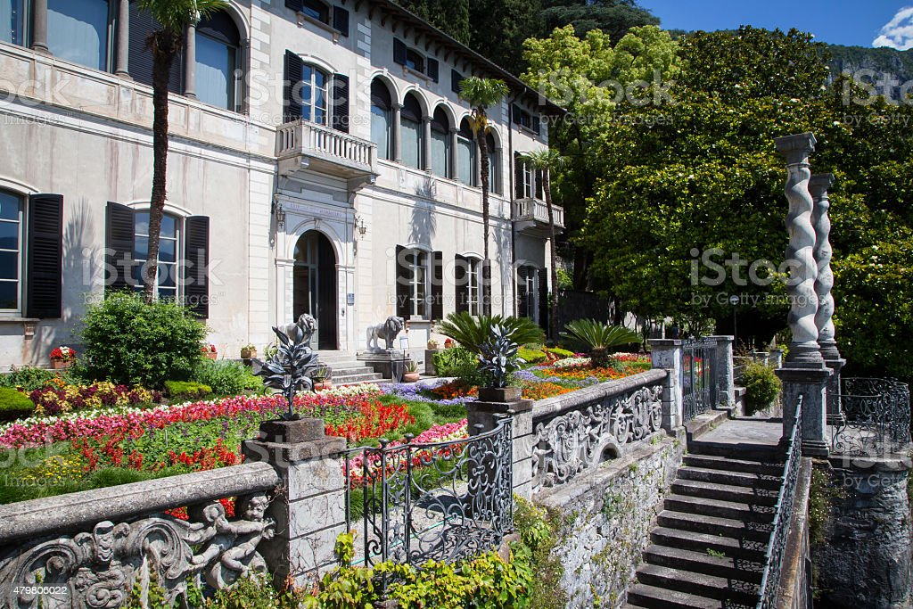 Villa Monastero, Lake Como, Italy stock photo