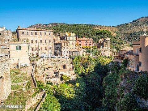 Villa of Manlio Vopisco in the Gregorian Bridge ( Ponte Gregoriano ) area in Tivoli, Italy