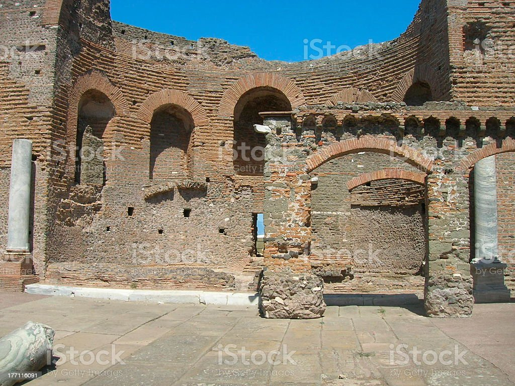 Villa of the Quintilii Nymphaeum royalty-free stock photo